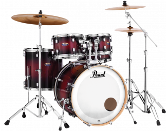 "BATERIA SHELL PACK PEARL DECADE 20"" GLOSS DEEP RED BURST"