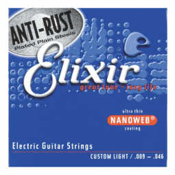 ENCORDAMENTO 009 CUSTOM LIGHT P/GUITARRA ELIXIR